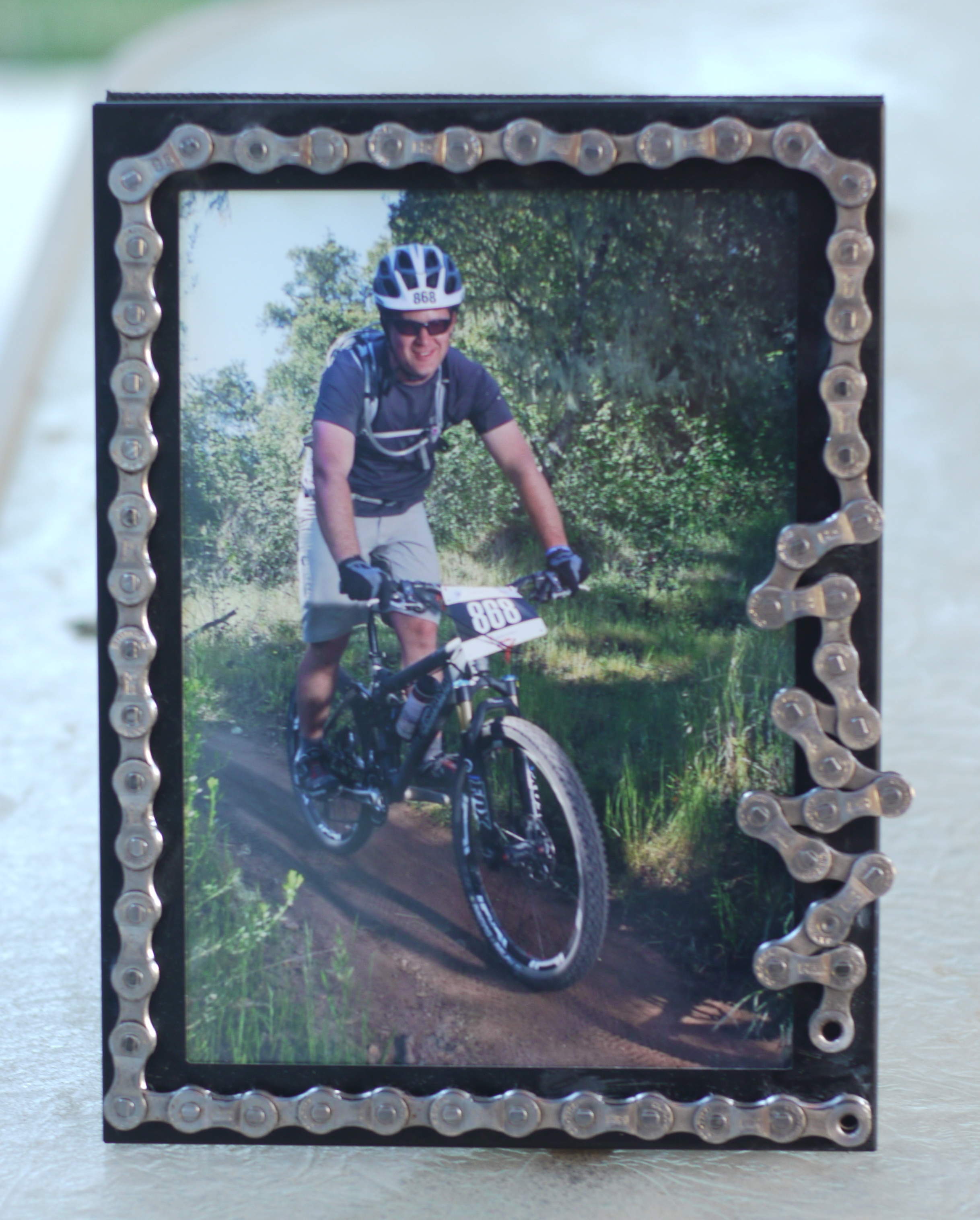 Diy Bike Chain Picture Frame Skip To The Details