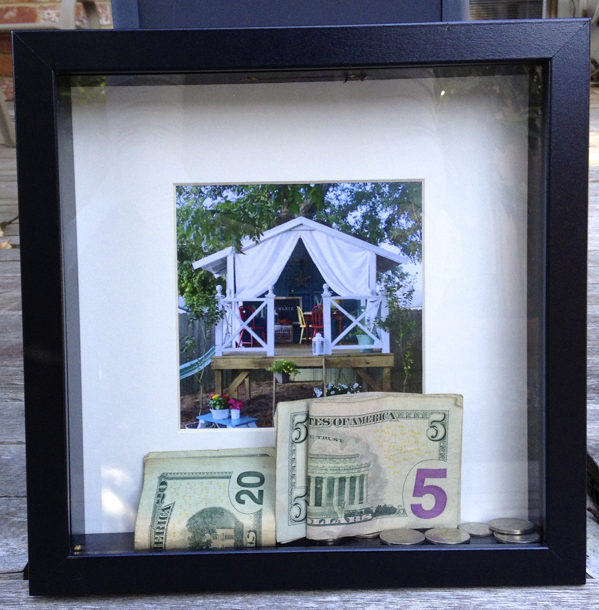 Shadow box piggy bank skip to the details for Best ways to save money when building a house